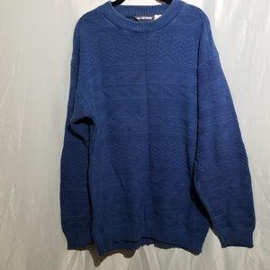 Van Heusen crew new Men's sweater royal blue